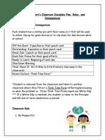 class discipline plan
