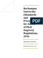Phd Regulations 2016