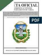 Estatuto Autonomico Departamental Vigente
