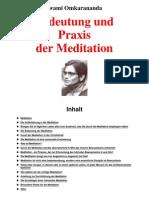 (eBook - German) Swami Omkarananda - Bedeutung Und Praxis Der Meditation