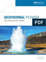 IRENA Geothermal Power 2017
