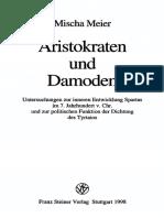 Meier, Aristokraten Und Damoden_ Untersuchungen Zur Inneren Entwicklung Spartas Im 7. Jahrhundert v. Chr. (1998)
