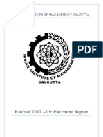 IIM Calcutta Final Placements 2009