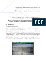 Dilatacion Volumetrica Del Agua