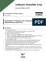 Fgv 2010 Fiocruz Tecnologista Em Saude Arquitetura e Urbanismo Prova