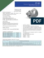 data sheet purgador PT65-40