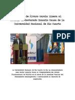 Discurso de Álvaro García Linera en Río Cuarto Al Recibir El Doctor Honoris Causa (2)