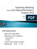 Hypochlorinators PHA Opening Presentation PHA Jan 24, 2016