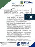 Resolución 25 de Mayo 1 PROCESO POLICIVO