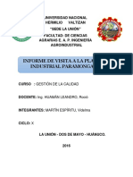 GESTION DE CALIDAD INFORME  INFORME (PARAMONGA).docx
