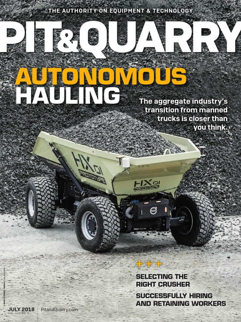 Pit Quarry July 2018 pdf | Tire | Automation