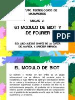 6.1 Modulo de Biot y Fourier