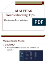 ALPHA6 Troubleshoot