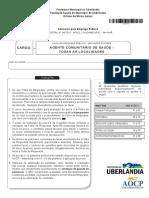 Aocp 2015 Fundasus Agente Comunitario de Saude Prova