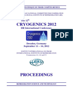 12th CRYOGENICS 2012 IIR International Conference Dresden Germany