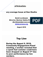 Lochbaum, Union of Concerned Scientists 20180813 Songs Ucs Dry Cask Transfer Event
