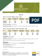 Emerald Floors Price List