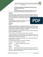 2.- ESPECIFICACIONES - ARQUITECTURA