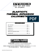 Bansal Elasticity, Thermal Expansion Calorimetry