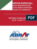 Enunciados Direito do Trabalho e Processual do Trabalho