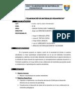 Proyecto de Uso y Elaboracion de Materiales Pedagogicos