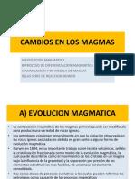 Cambios en Los Magmas
