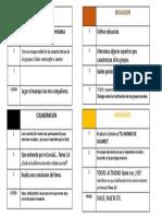 Tabla Actividades Pecera de Colores Grupo Psicologia Tecnicas Estrategias de Grupo