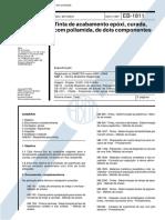 NBR 10989 EB 1811 - Tinta de Acabamento Epoxi Curada Com Poliamida de Dois Componentes