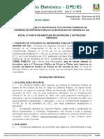 Edital Dpe Rs Defensor 2018