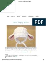 Crochet Lamb Hat Pattern - Repeat Crafter Me