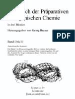 Brauer, Georg - Handbuch der Präparativen Anorganischen Chemie BAND 1-3