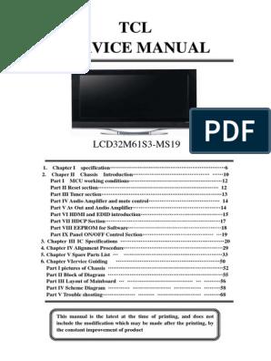TCL 32M61_MS19 service manual pdf   Electronics   Display