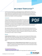 HireRight Employment Verification Product Brief 2013