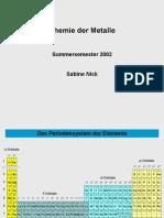 Chemie Der Metalle2002