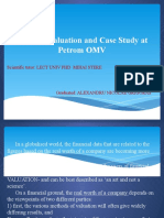 Business Valuation and Case Study at Petrom OMV