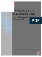 Migrador de La Carpeta Familiar 2015 - 2016