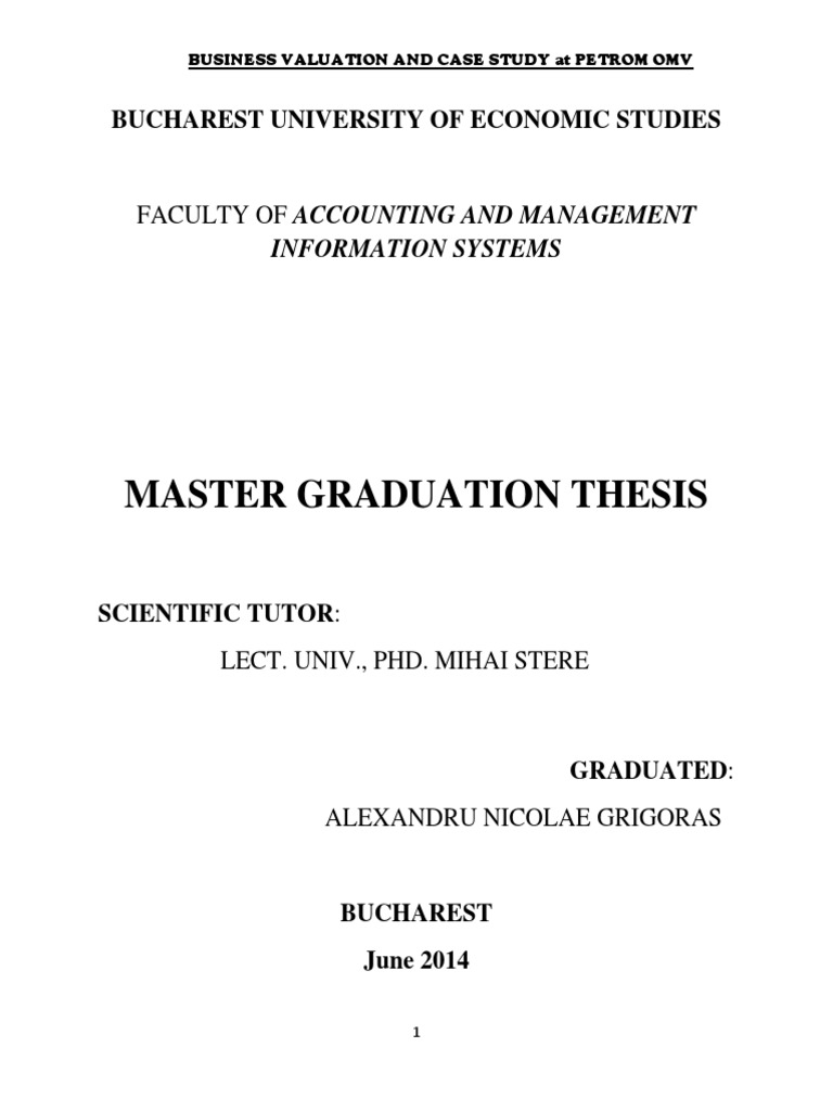 Thesis master accounting