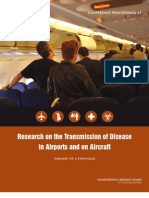 Research on the Transmission of Disease in Airports and on Aircraft