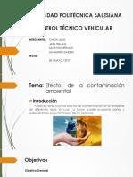 Control tecnico vehicular, Contaminacion