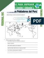 Ficha Primeros Pobladores Del Peru Para Tercero de Primaria