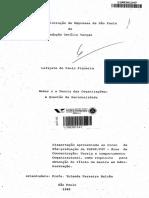 FIGUEIRA, 1982 - Weber e a teoria das organizações questão da racionalidade