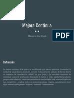 Mejora Continua- Mauricio Atri Cojab