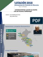 39. Jose Quijahuaman. Presentación Congreso de Flotación 2018