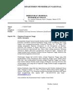 (1) Surat Pengantar Dirjen Dikti