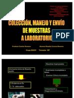Coleecion Manejo y Envio de Muestras a Lab Oratorio