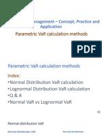 Parametric VaR Methods