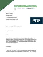 Declaran Improcedente Habeas Data Porque El Petitorio y Los Hechos No Inciden en El Contenido Constitucionalmente Protegido Del Derecho Invocado
