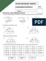 Examen Mensual de Razonamiento Matematico Nota