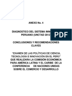 ANEXO No4 Diagnostico del Sistema Innovador Peruano