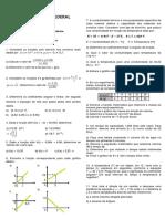 1ª Lista de exercícios - Funções 1º e 2º graus